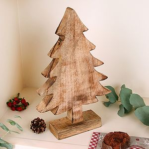 Wooden Christmas Tree - nativity scenes & table-top figures