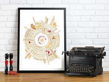 Wizard Of Oz Radial Story Print