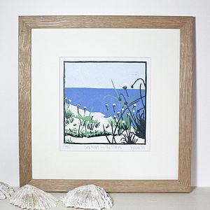 Coastal Flowers Art Print 'Sea Pinks On The Dunes' - shop by subject