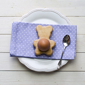 Teddy Bear Egg Cup Tealight Holder