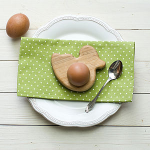 Wooden Duck Egg Cup Tea Light Holder - dining room