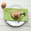 Wooden Duck Egg Cup Tea Light Holder