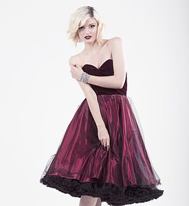 Ruby Velvet Satin And Tulle Dress - bridesmaid fashion