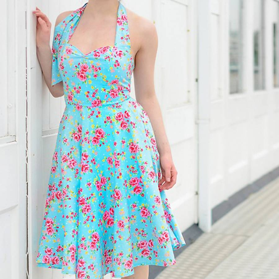 Floral Fifties Dress By Oh My Honey Notonthehighstreet