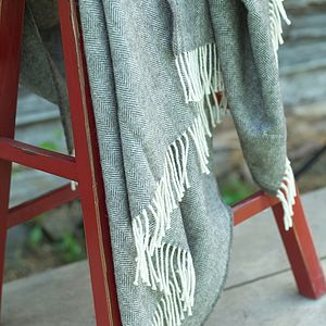 Alpaca Wool Throw Grey Sergio - bedding & accessories