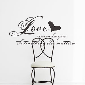 'Love Reminds You' Scripture Wall Sticker - wall stickers