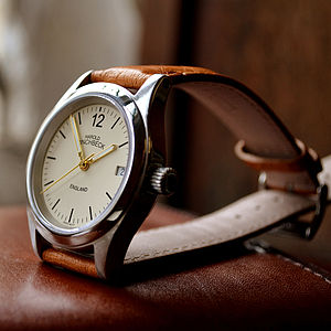 George Automatic Watch With Parchment Dial - valentine's gifts for him