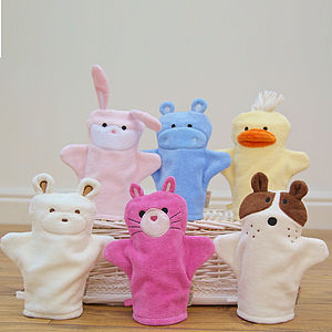 Two Puppet Bath Mitts From Six Designs - baby care