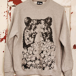 Bear And Popcorn Jumper - men's fashion