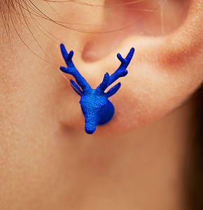 Deer Head Earrings - women's jewellery