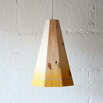 Tall Coloured Recycled Pendant Lampshade