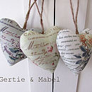 Set Of Three Floral Hearts