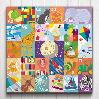 Alphabet In Pictures Canvas