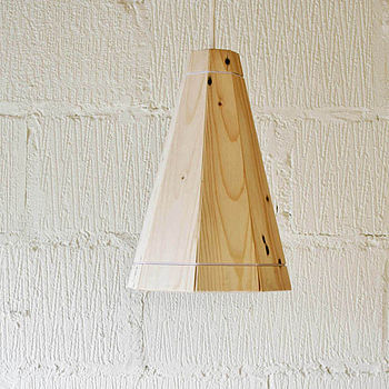 Tall Natural Pendant Lamp Shade