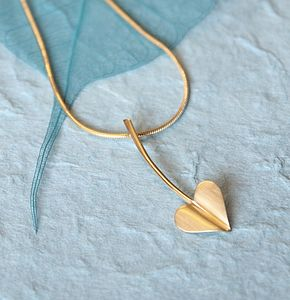 'Love Grows' Gold Plated Heart Necklace - wedding jewellery