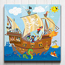 Jolly Roger Pirate Ship Canvas