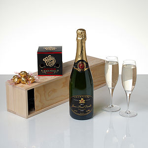 Champagne And Pearls Chocolates Gift Box - food hampers