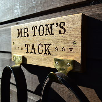 Personalised Oak Tack Tidy