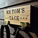 Thumb personalised oak tack tidy