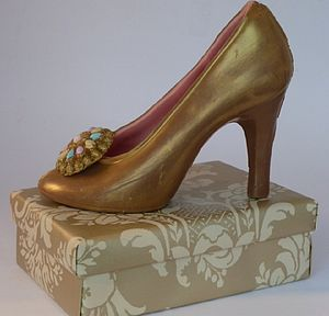 Large Chocolate Shoe Royal Vintage Jewel - novelty chocolates