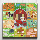 Farmyard Counting Canvas
