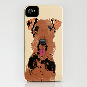 Airedale Terrier Dog On iPhone Case