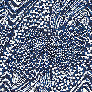 Starling Bird Fabric | Blue - throws, blankets & fabric