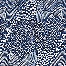 Starling Bird Fabric | Blue