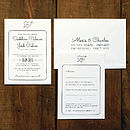 Heart And Arrow Wedding Invitation