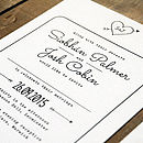 Heart And Arrow Wedding Invitation Detail