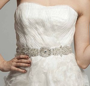 Bridal Sash Belt Made With Swarovski Crystals