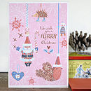 Pack Of Six Family Christmas Cards