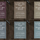 Popular Colours for Calligraphy Wedding Save the Date Cards