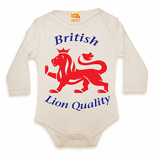 British Lion 'Good Egg' Babygrow - babygrows