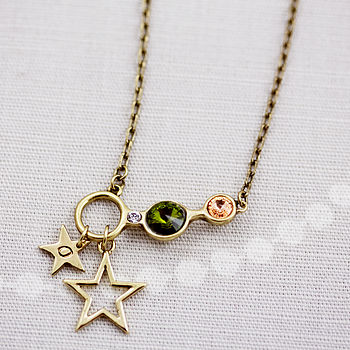 Personalised Swarovski Charm Circle Necklace