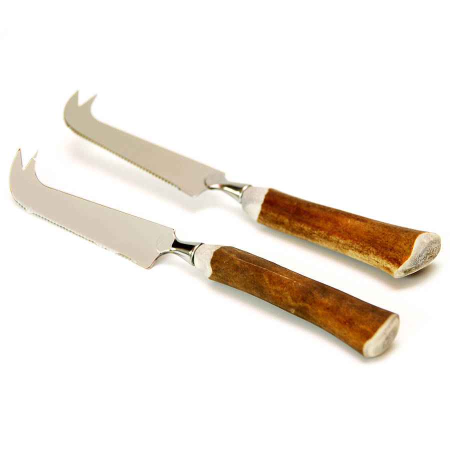 Antler Handle Cheese Knife By Cairn Wood Design