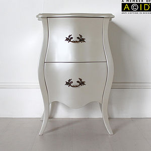 Curvy Bedside Table With Two Drawers - furniture