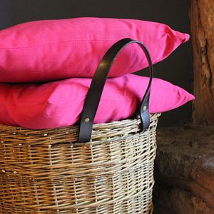Cerise Pink Coloured Cushion Cover - cushions