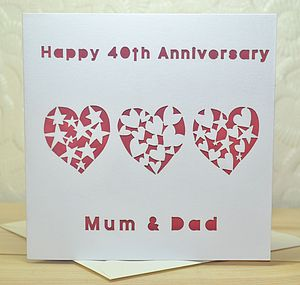 Personalised Laser Cut Anniversary Heart Card - anniversary cards