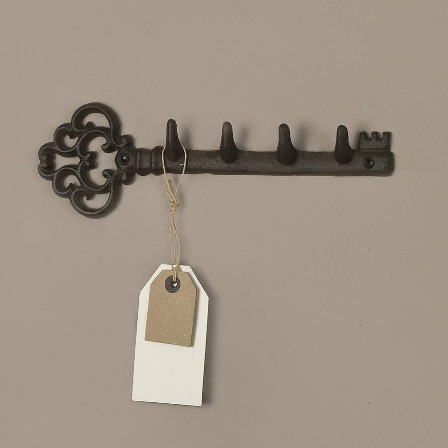 Traditional cast iron wall key rack by dibor - Keys holder wall ...