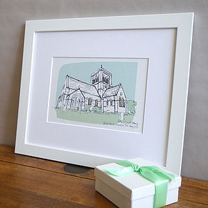 Christening Venue Illustration - prints & art