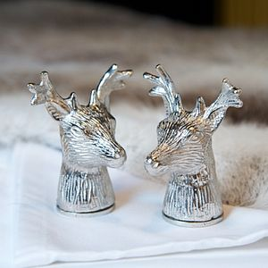 Stag Head Salt And Pepper Set - kitchen