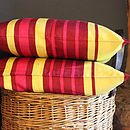 Cotton Striped Cushion Cover