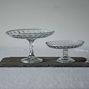 Glass Single Tier Cake Stand - dining room