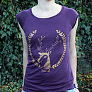 Bamboo Womens 'Simon The Stag' T Shirt Half Price Sale