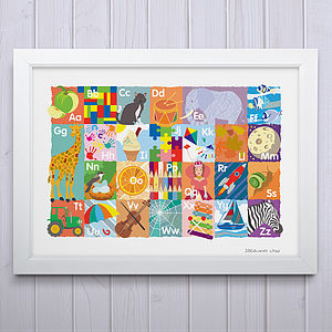 Alphabet In Pictures Fine Art Print - pictures & prints for children