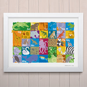 Animal Alphabet Fine Art Print - children's room