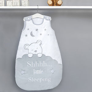 Personalised Teddy Bear Baby Sleeping Bag - soft furnishings & accessories