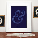 Personalised Couple's Names Ampersand Print