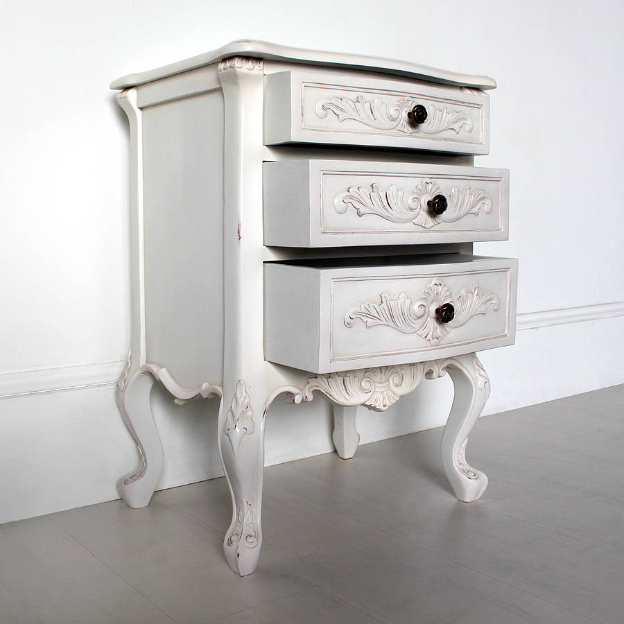 Classic bedside table - Classic Bedside Table With Three Drawers